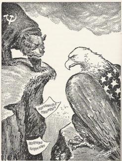 Cold War - Statements and Suspicions - Cartoon
